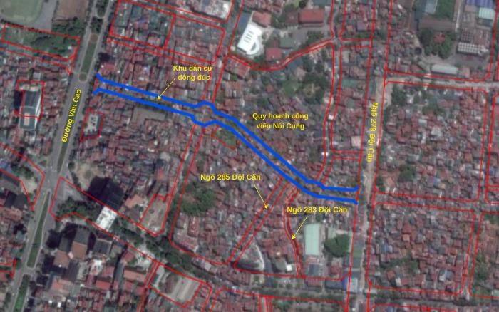 Đường sắp mở theo quy hoạch ở phường Liễu Giai, Ba Đình, Hà Nội (phần 3): Hai đường nối từ Văn Cao đến ngõ 279 Đội Cấn kéo dài - Ảnh 10.