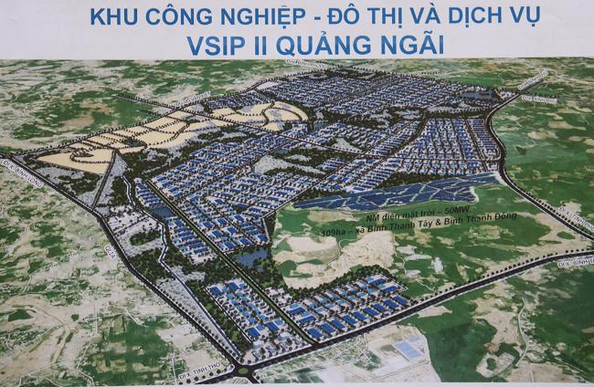 Phối cảnh Khu công nghiệp VSIP II Quảng Ngãi