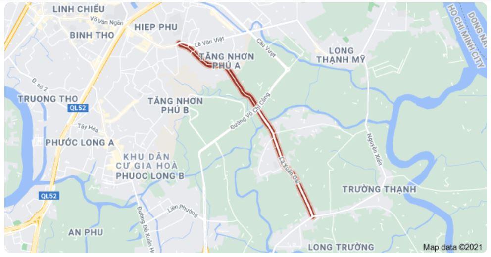 Giá đất đường Lã Xuân Oai, TP Thủ Đức, TP HCM - Ảnh 1.
