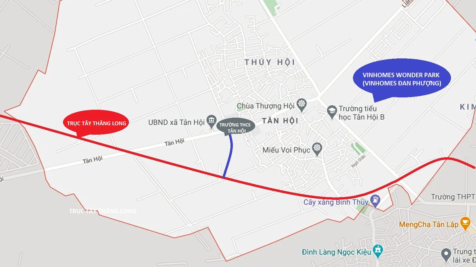 Hà Nội duyệt chỉ giới tuyến đường gần Vinhomes Đan Phượng - Ảnh 1.