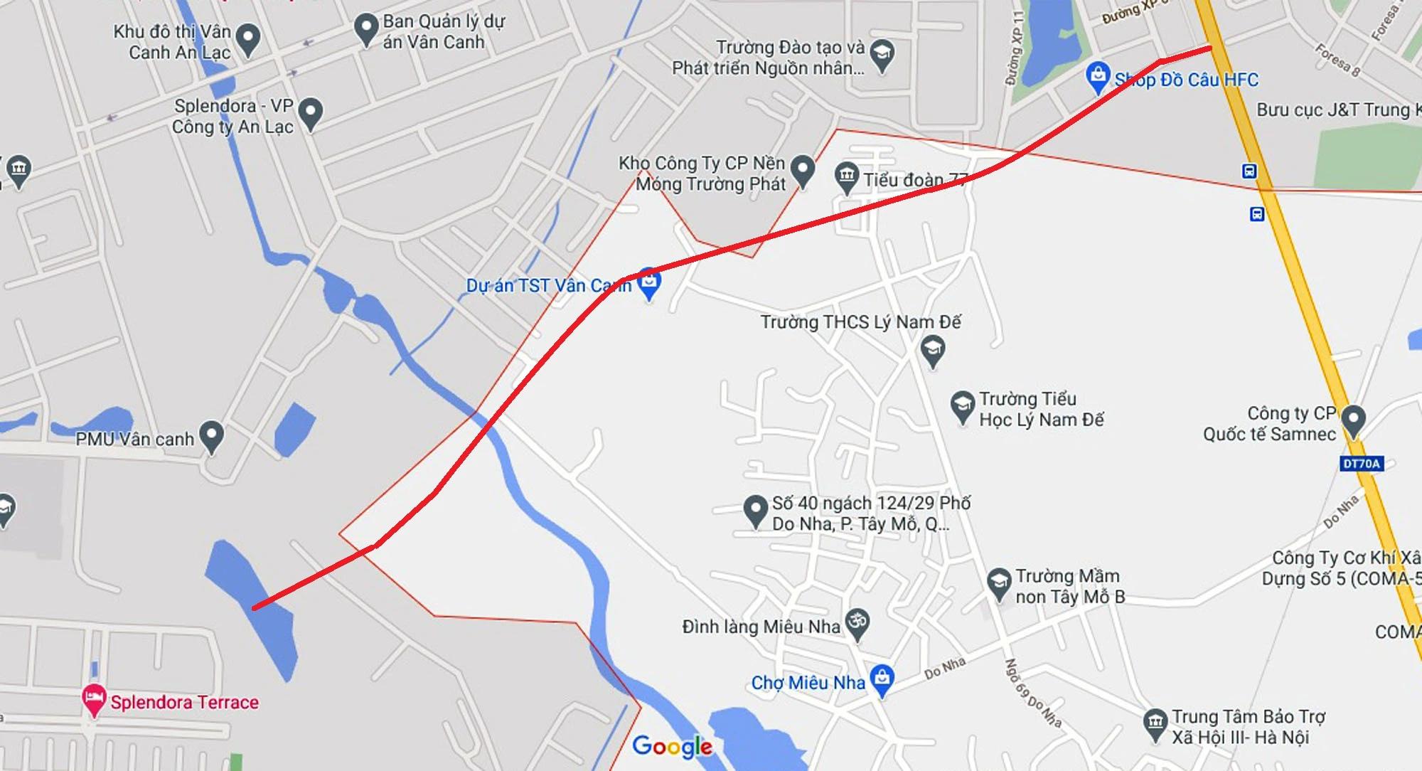 Đường sẽ mở theo qui hoạch ở phường Tây Mỗ, Nam Từ Liêm, Hà Nội (phần 3) - Ảnh 2.