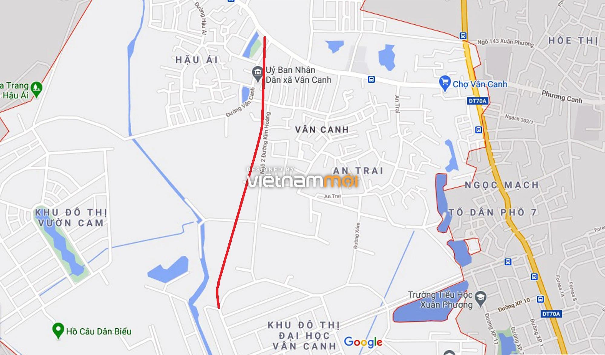 Đường sẽ mở theo quy hoạch ở xã Vân Canh, Hoài Đức, Hà Nội (phần 3) - Ảnh 2.