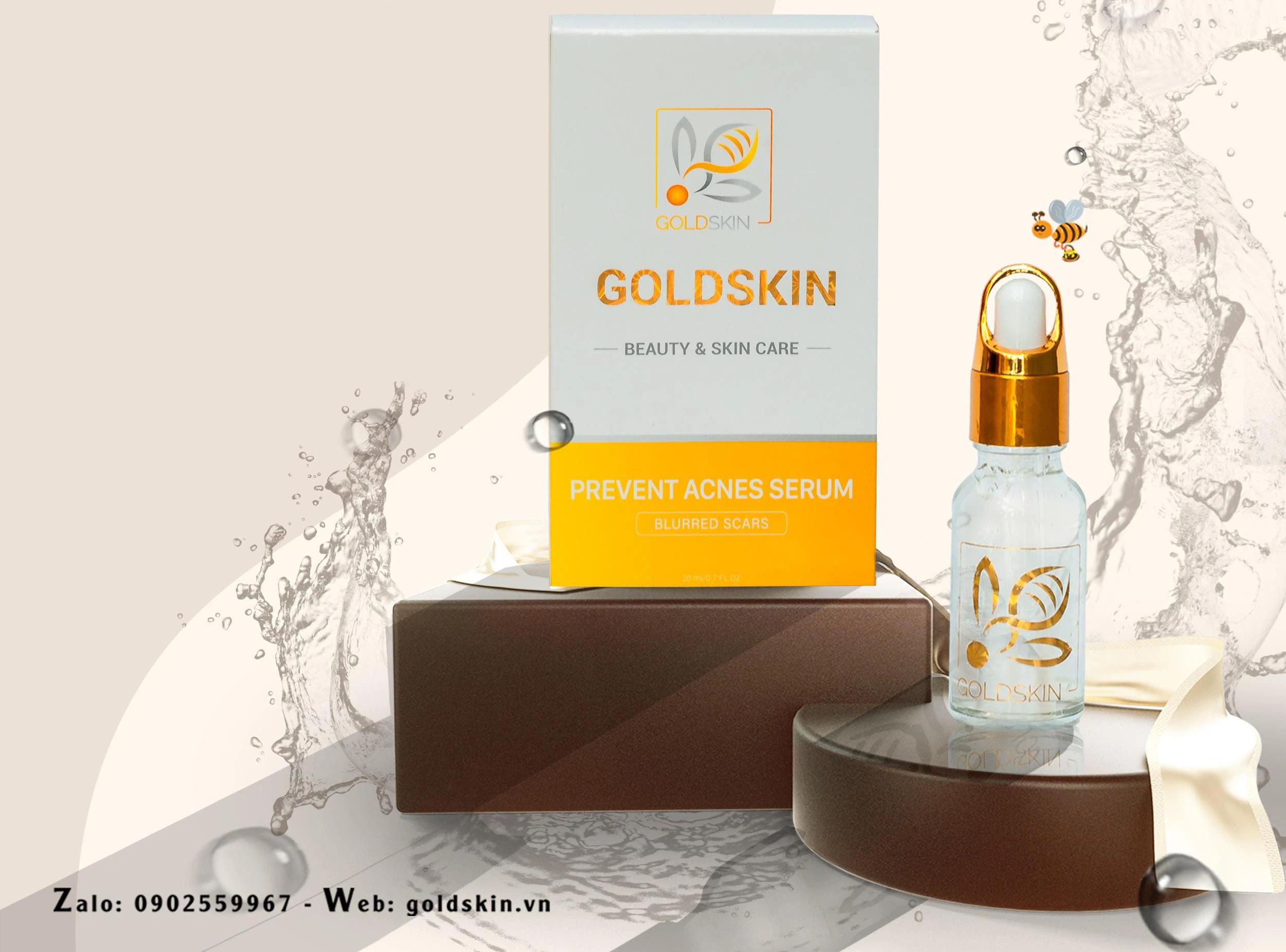 Goldskin – Serum hỗ trợ điều trị mụn trứng cá hiệu quả - Ảnh 1.