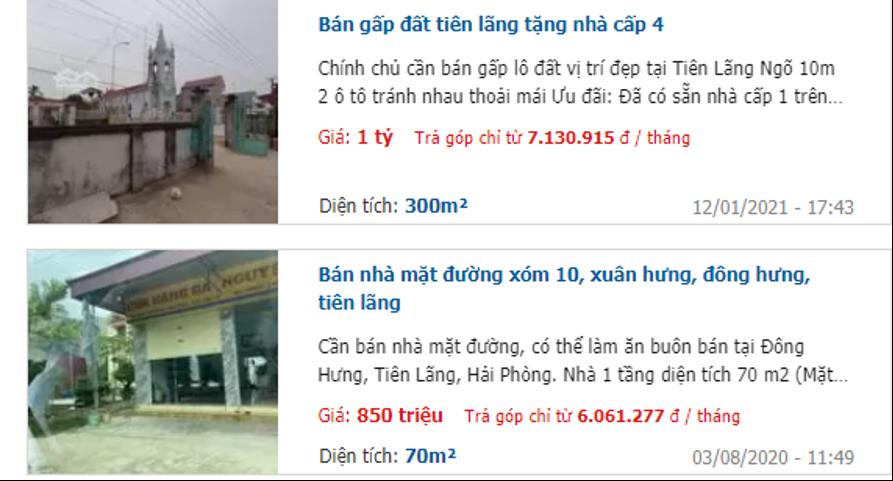 Giá đất 4 xã trong vùng quy hoạch sân bay Tiên Lãng, Hải Phòng - Ảnh 2.
