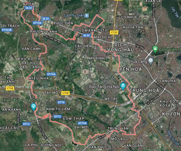 Bản đồ quy hoạch sử dụng đất quận Nam Từ Liêm, Hà Nội - Ảnh 1.