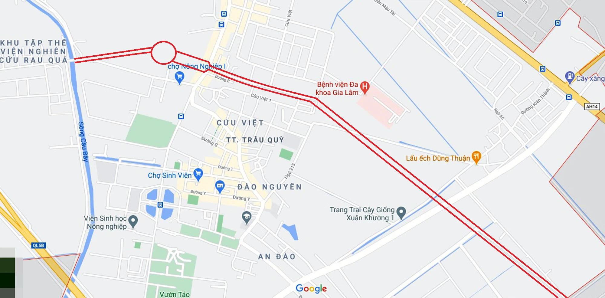 Toàn cảnh đường từ Kiêu Kỵ đến sông Cầu Bây qua Vinhomes Ocean Park đang mở theo quy hoạch ở Hà Nội - Ảnh 1.