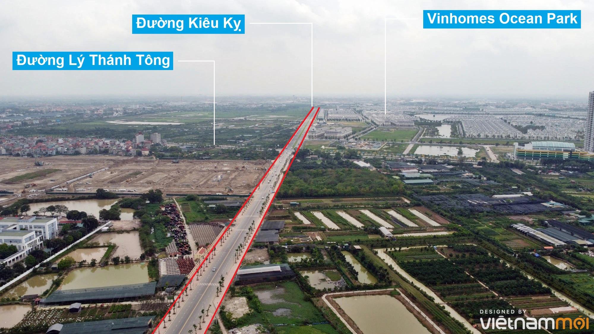 Toàn cảnh đường từ Kiêu Kỵ đến sông Cầu Bây qua Vinhomes Ocean Park đang mở theo quy hoạch ở Hà Nội - Ảnh 2.