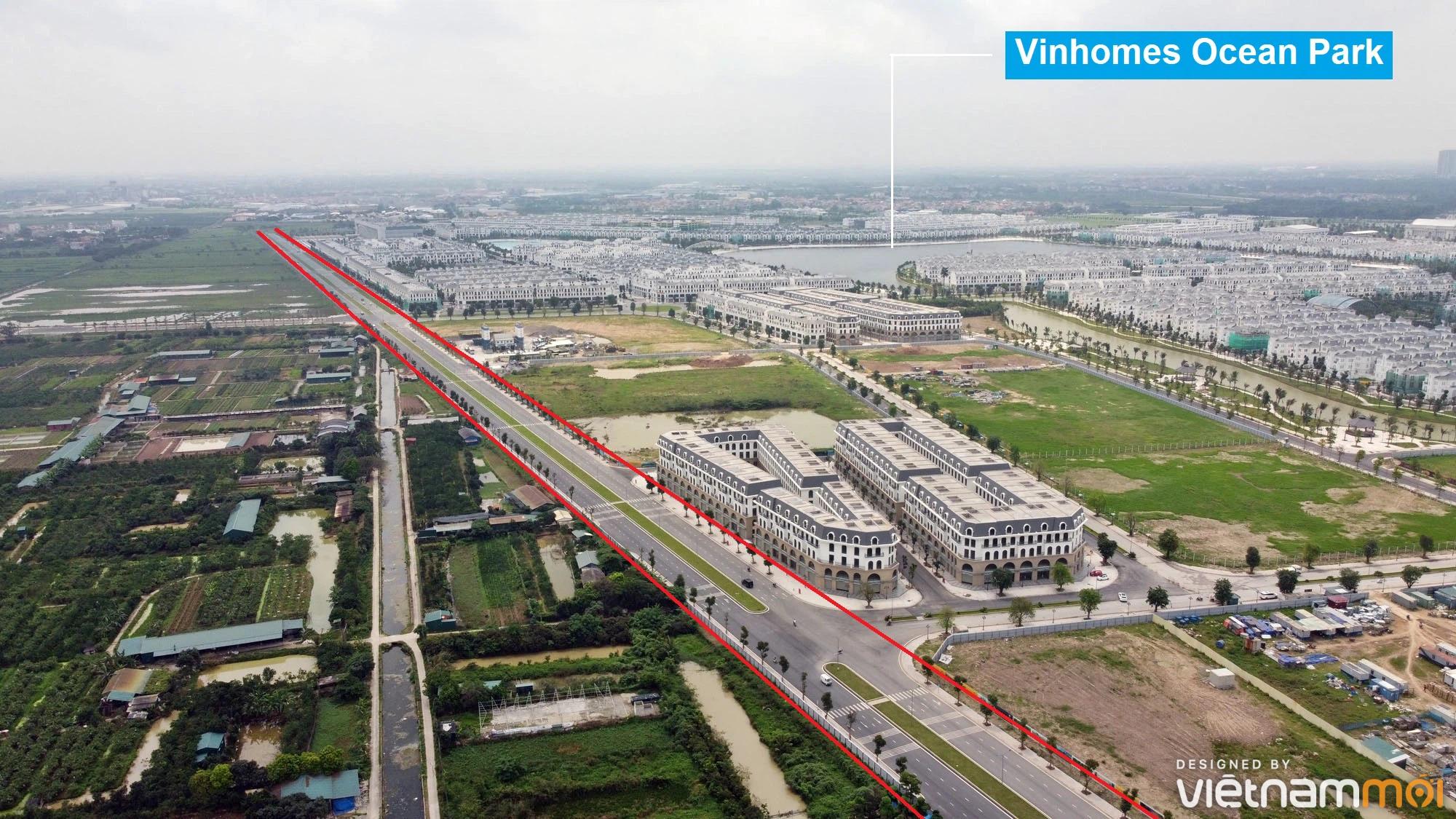 Toàn cảnh đường từ Kiêu Kỵ đến sông Cầu Bây qua Vinhomes Ocean Park đang mở theo quy hoạch ở Hà Nội - Ảnh 3.