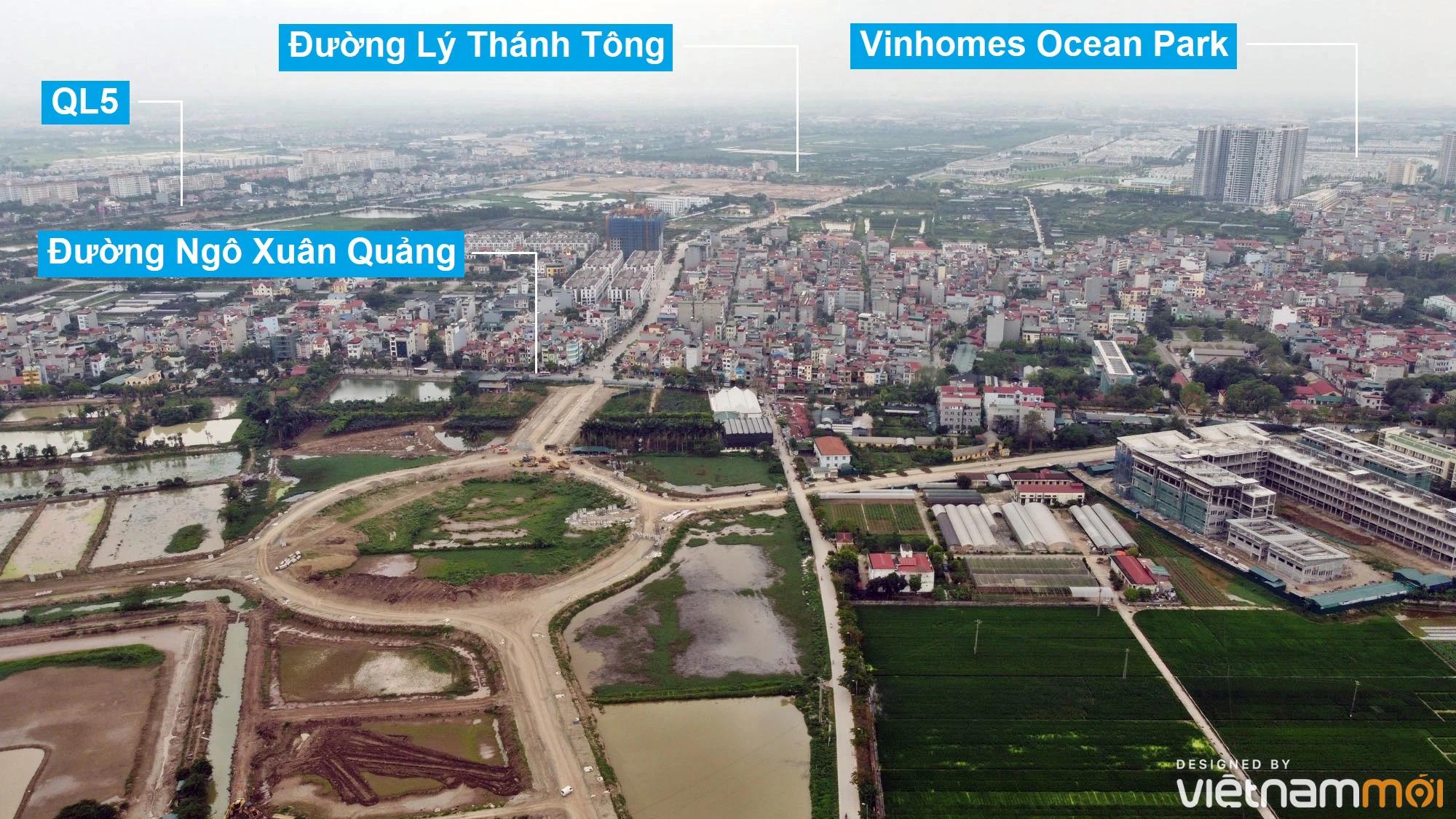 Toàn cảnh đường từ Kiêu Kỵ đến sông Cầu Bây qua Vinhomes Ocean Park đang mở theo quy hoạch ở Hà Nội - Ảnh 12.