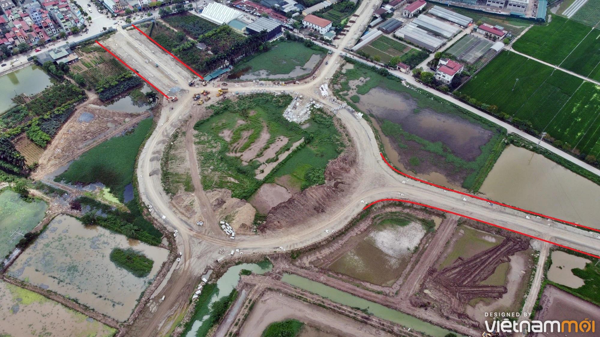 Toàn cảnh đường từ Kiêu Kỵ đến sông Cầu Bây qua Vinhomes Ocean Park đang mở theo quy hoạch ở Hà Nội - Ảnh 14.