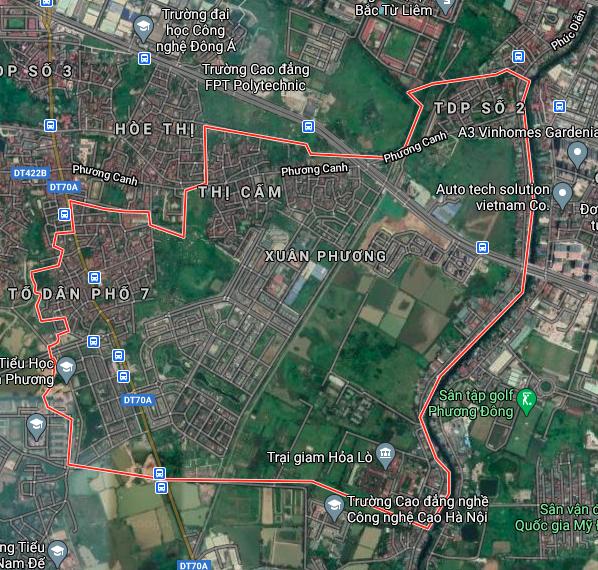 Bản đồ quy hoạch sử dụng đất phường Xuân Phương, Nam Từ Liêm, Hà Nội - Ảnh 1.
