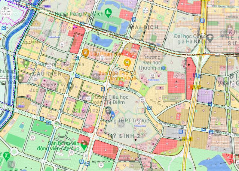 Bản đồ quy hoạch sử dụng đất phường Mỹ Đình 2, Nam Từ Liêm, Hà Nội - Ảnh 2.