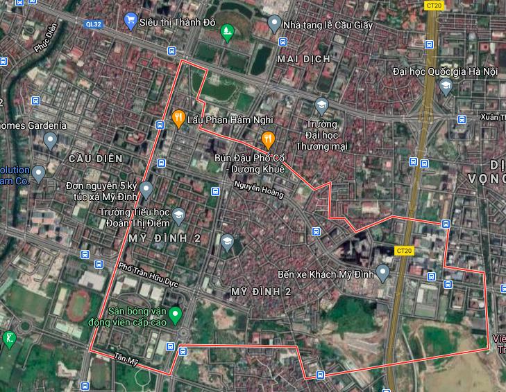 Bản đồ quy hoạch sử dụng đất phường Mỹ Đình 2, Nam Từ Liêm, Hà Nội - Ảnh 1.