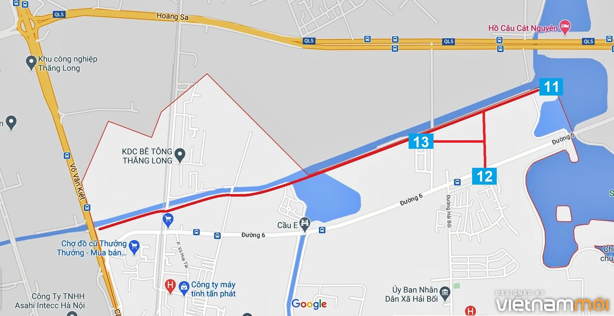Đường sẽ mở theo quy hoạch ở xã Hải Bối, Đông Anh, Hà Nội (phần 4) - Ảnh 9.