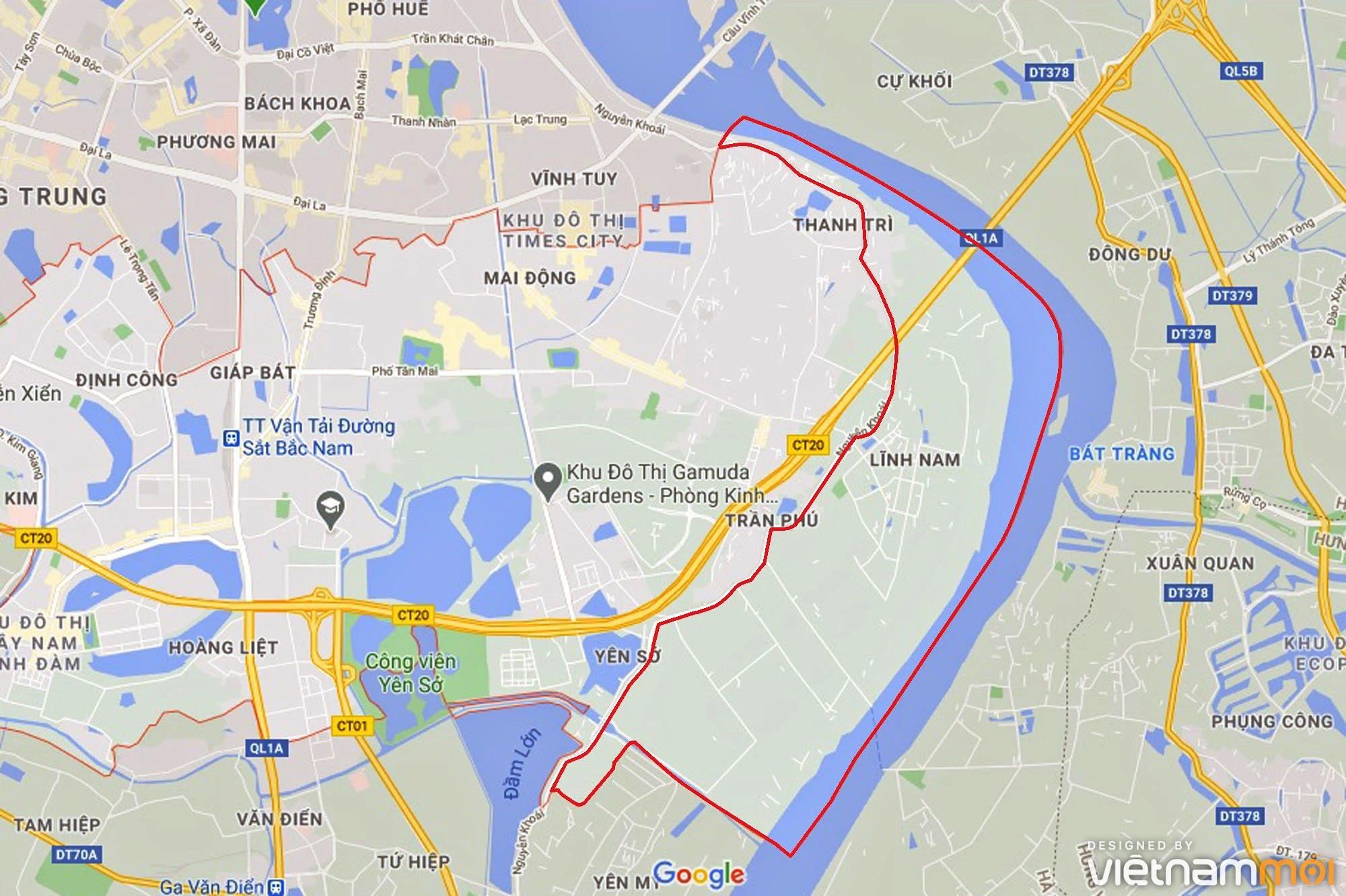 Toàn cảnh hiện trạng Phân khu đô thị sông Hồng trên địa bàn quận Hoàng Mai - Ảnh 1.