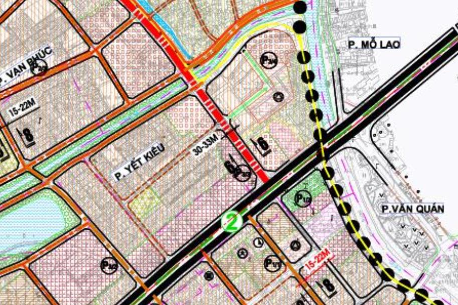 Bản đồ quy hoạch giao thông phường Yết Kiêu, Hà Đông, Hà Nội - Ảnh 2.