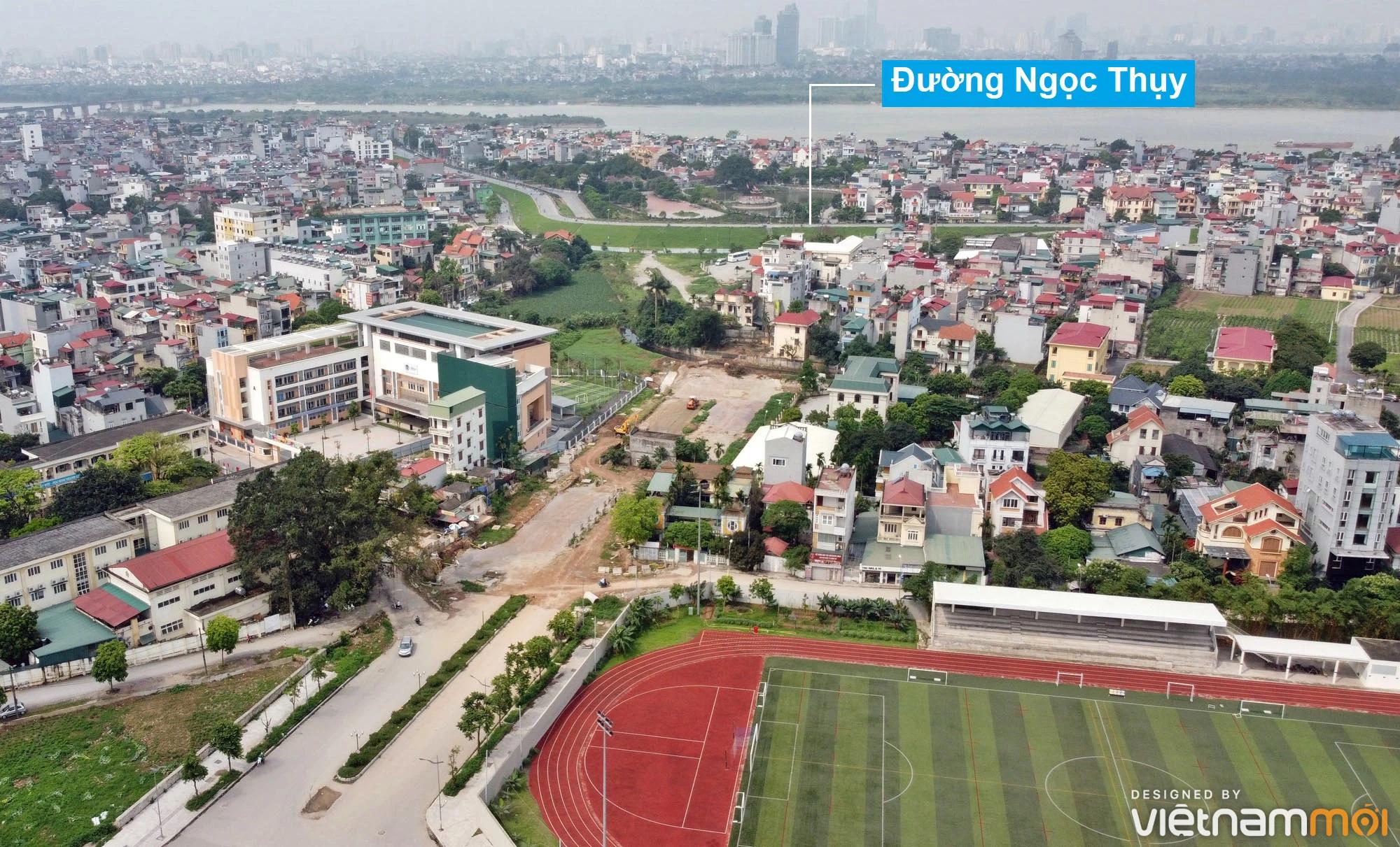 Toàn cảnh đường từ đê Ngọc Thụy đến KĐTM Thượng Thanh đang mở theo quy hoạch ở Hà Nội - Ảnh 1.