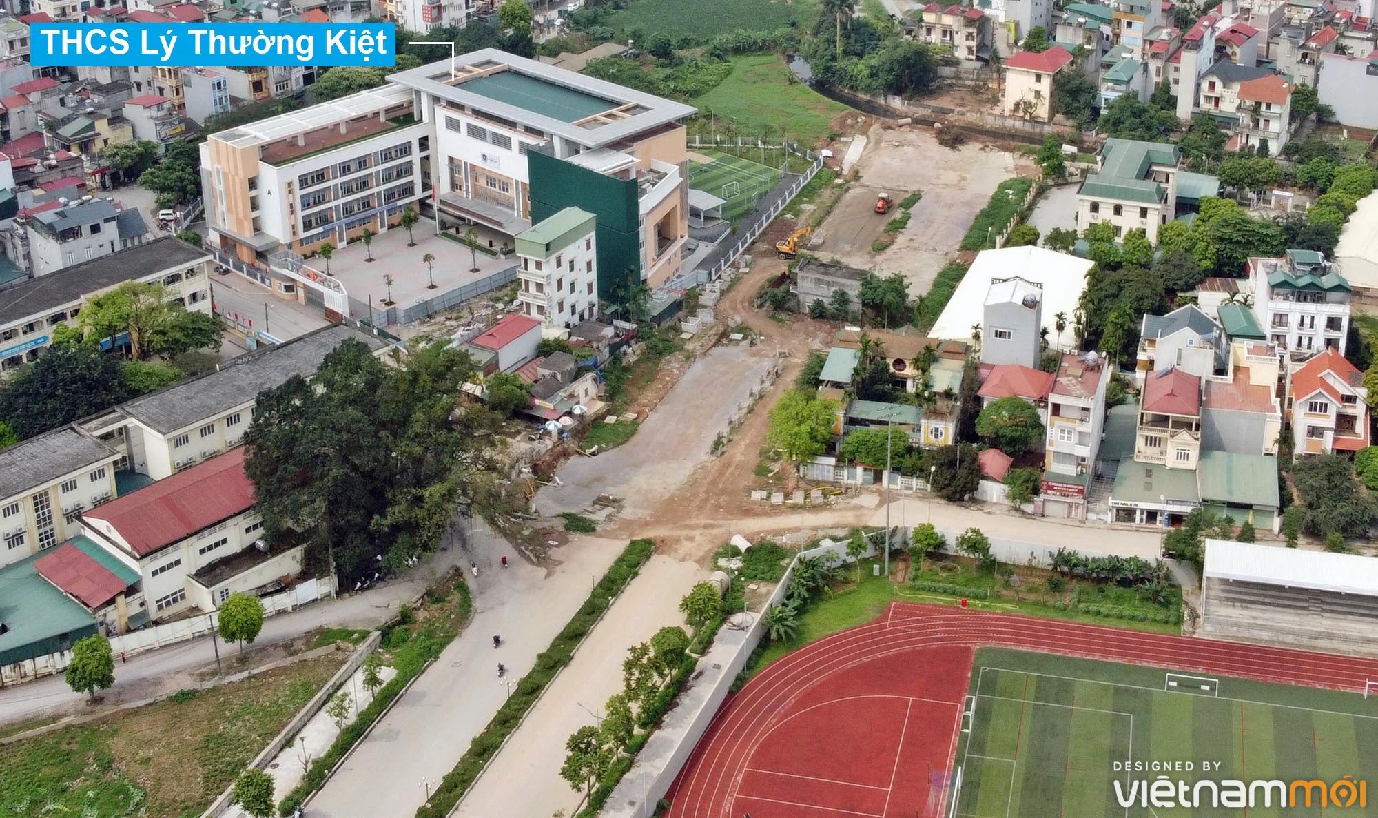 Toàn cảnh đường từ đê Ngọc Thụy đến KĐTM Thượng Thanh đang mở theo quy hoạch ở Hà Nội - Ảnh 2.