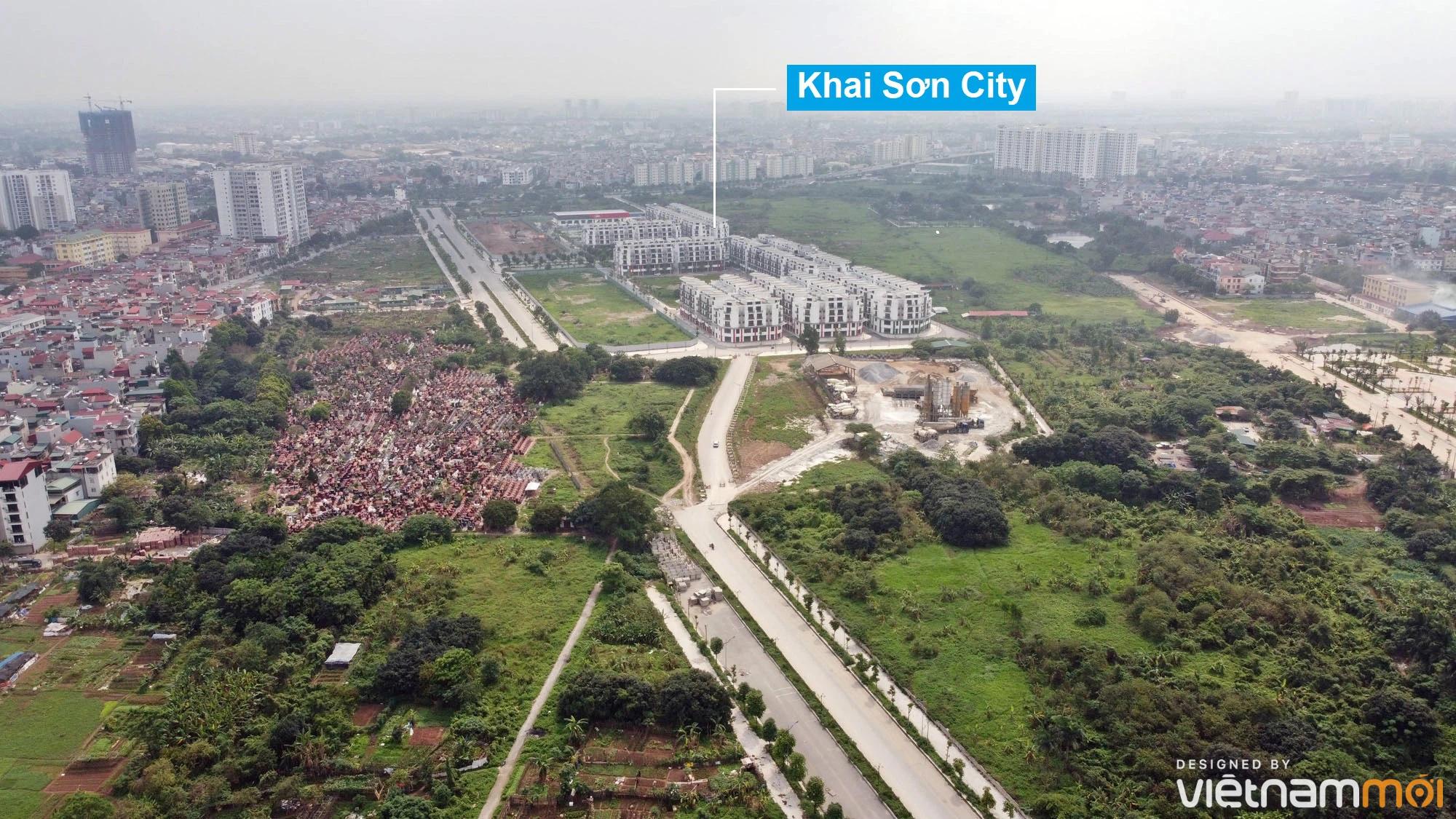 Toàn cảnh đường từ đê Ngọc Thụy đến KĐTM Thượng Thanh đang mở theo quy hoạch ở Hà Nội - Ảnh 3.