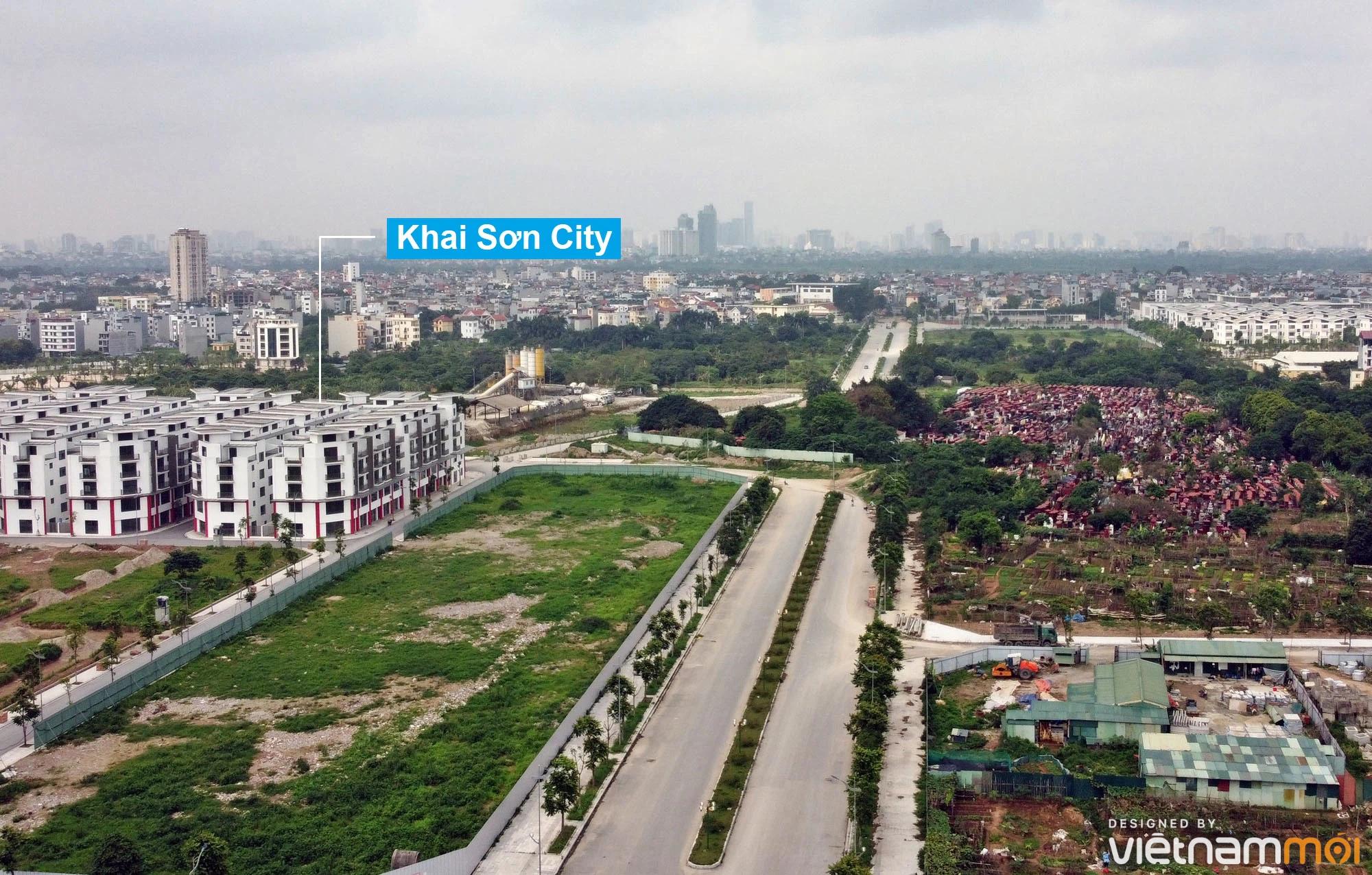 Toàn cảnh đường từ đê Ngọc Thụy đến KĐTM Thượng Thanh đang mở theo quy hoạch ở Hà Nội - Ảnh 5.