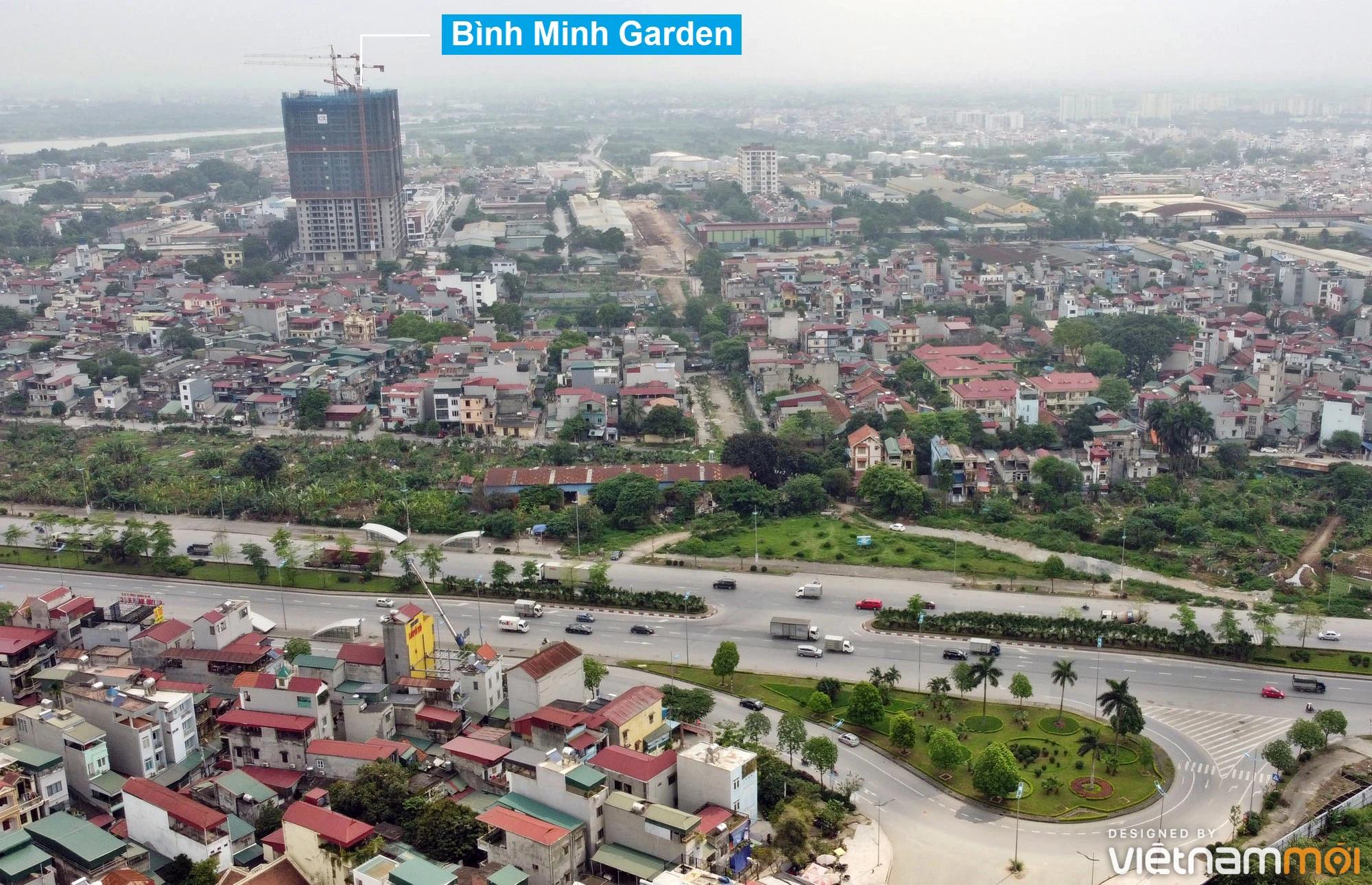 Toàn cảnh đường từ đê Ngọc Thụy đến KĐTM Thượng Thanh đang mở theo quy hoạch ở Hà Nội - Ảnh 8.