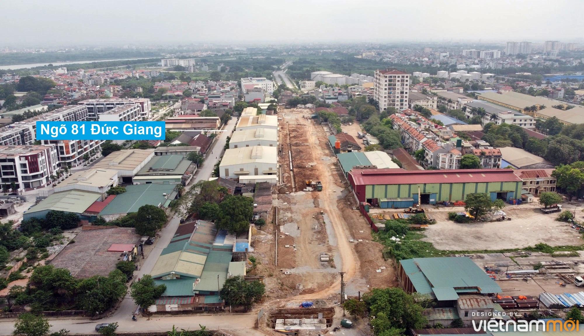 Toàn cảnh đường từ đê Ngọc Thụy đến KĐTM Thượng Thanh đang mở theo quy hoạch ở Hà Nội - Ảnh 10.
