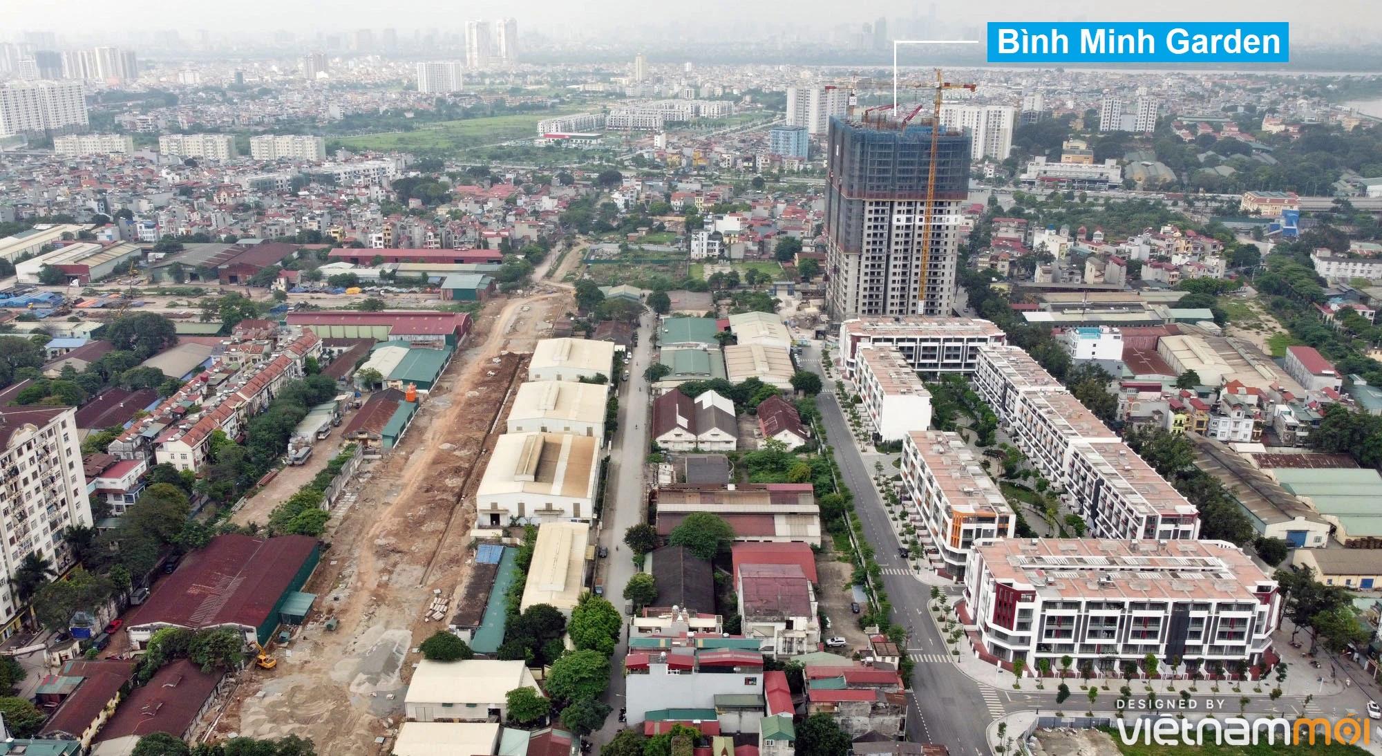 Toàn cảnh đường từ đê Ngọc Thụy đến KĐTM Thượng Thanh đang mở theo quy hoạch ở Hà Nội - Ảnh 15.