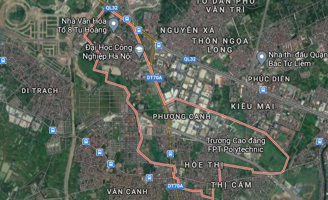 Bản đồ quy hoạch giao thông phường Phương Canh, Nam Từ Liêm, Hà Nội - Ảnh 1.