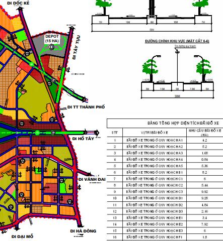 Bản đồ quy hoạch giao thông phường Phương Canh, Nam Từ Liêm, Hà Nội - Ảnh 3.