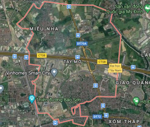 Bản đồ quy hoạch sử dụng đất phường Tây Mỗ, Nam Từ Liêm, Hà Nội - Ảnh 1.