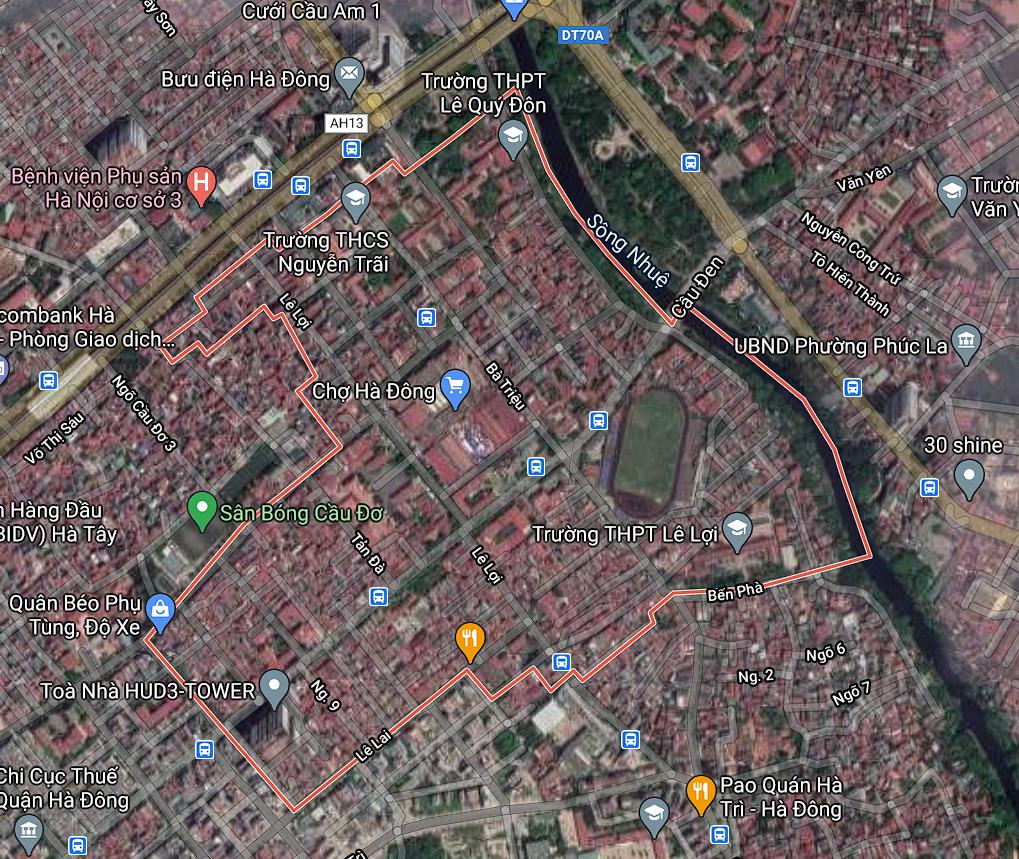 Bản đồ quy hoạch giao thông phường Nguyễn Trãi, Hà Đông, Hà Nội - Ảnh 1.