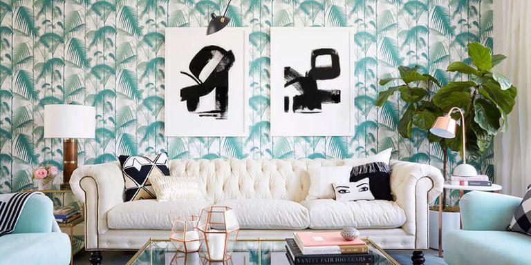 Tham khảo cách trang trí phòng khách ấn tượng bằng giấy dán tường - Ảnh 17.