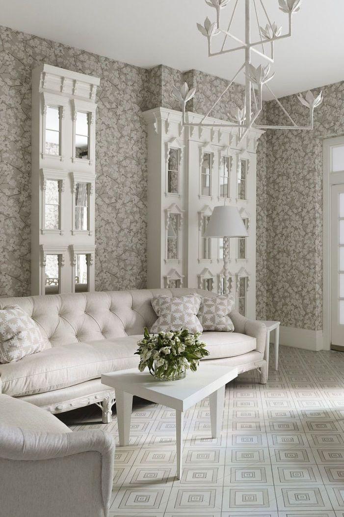 Tham khảo cách trang trí phòng khách ấn tượng bằng giấy dán tường - Ảnh 18.