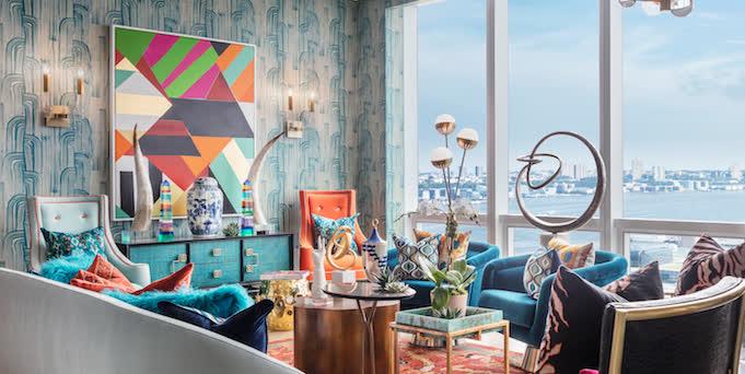 Tham khảo cách trang trí phòng khách ấn tượng bằng giấy dán tường - Ảnh 19.