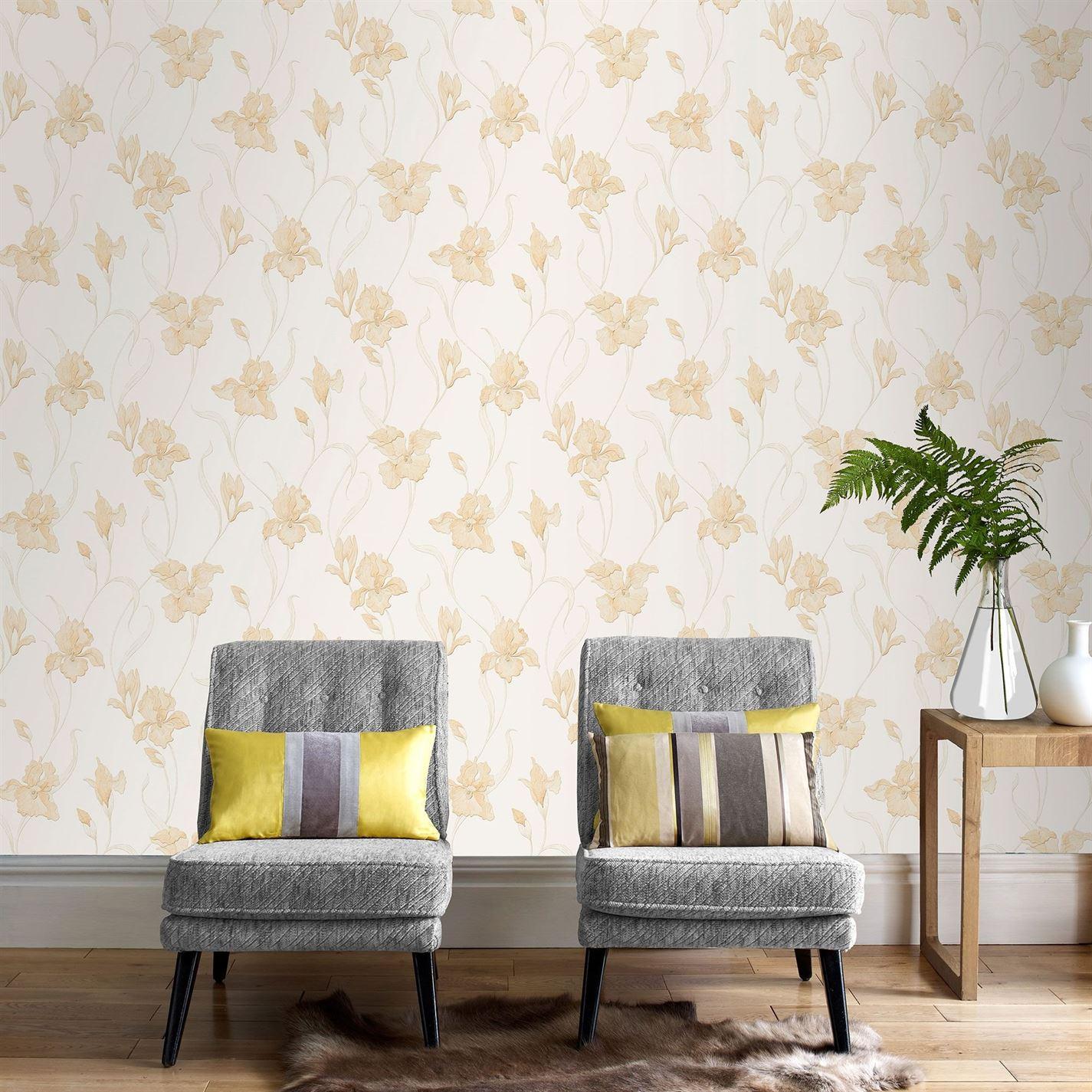 Tham khảo cách trang trí phòng khách ấn tượng bằng giấy dán tường - Ảnh 6.