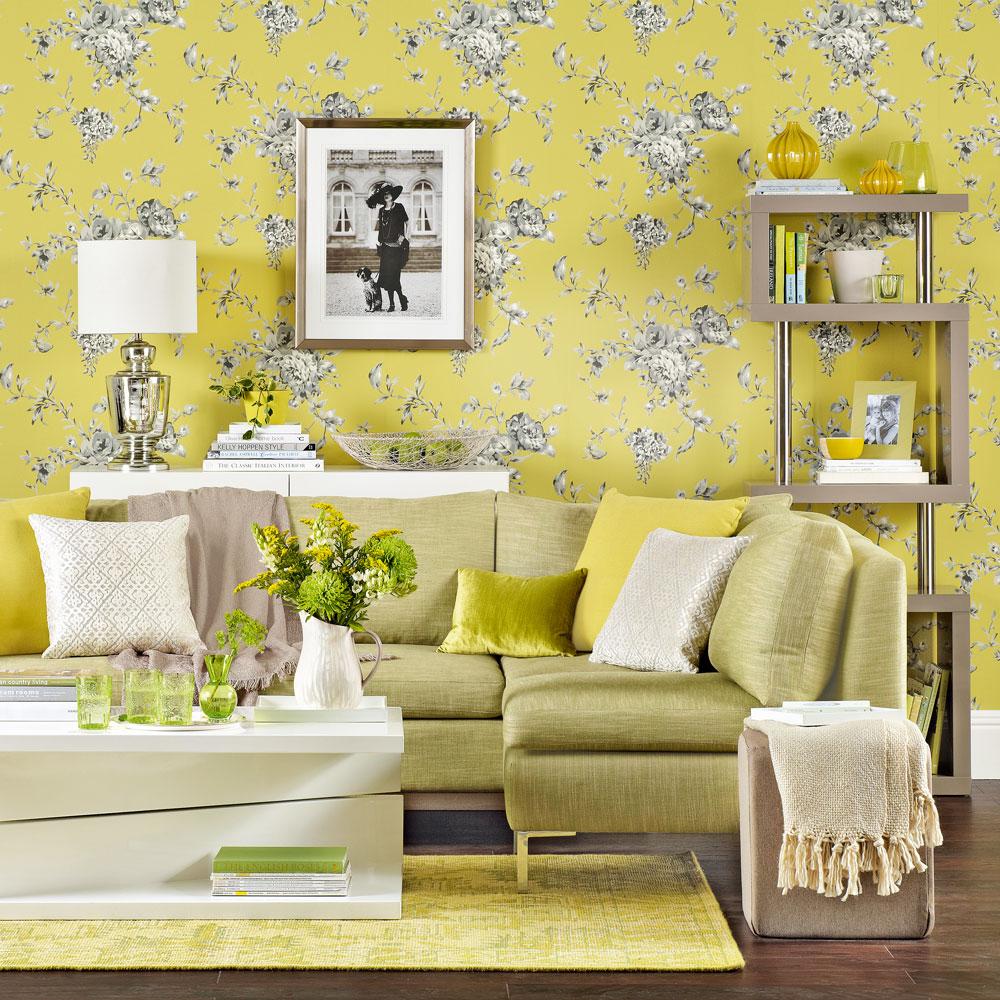 Tham khảo cách trang trí phòng khách ấn tượng bằng giấy dán tường - Ảnh 20.