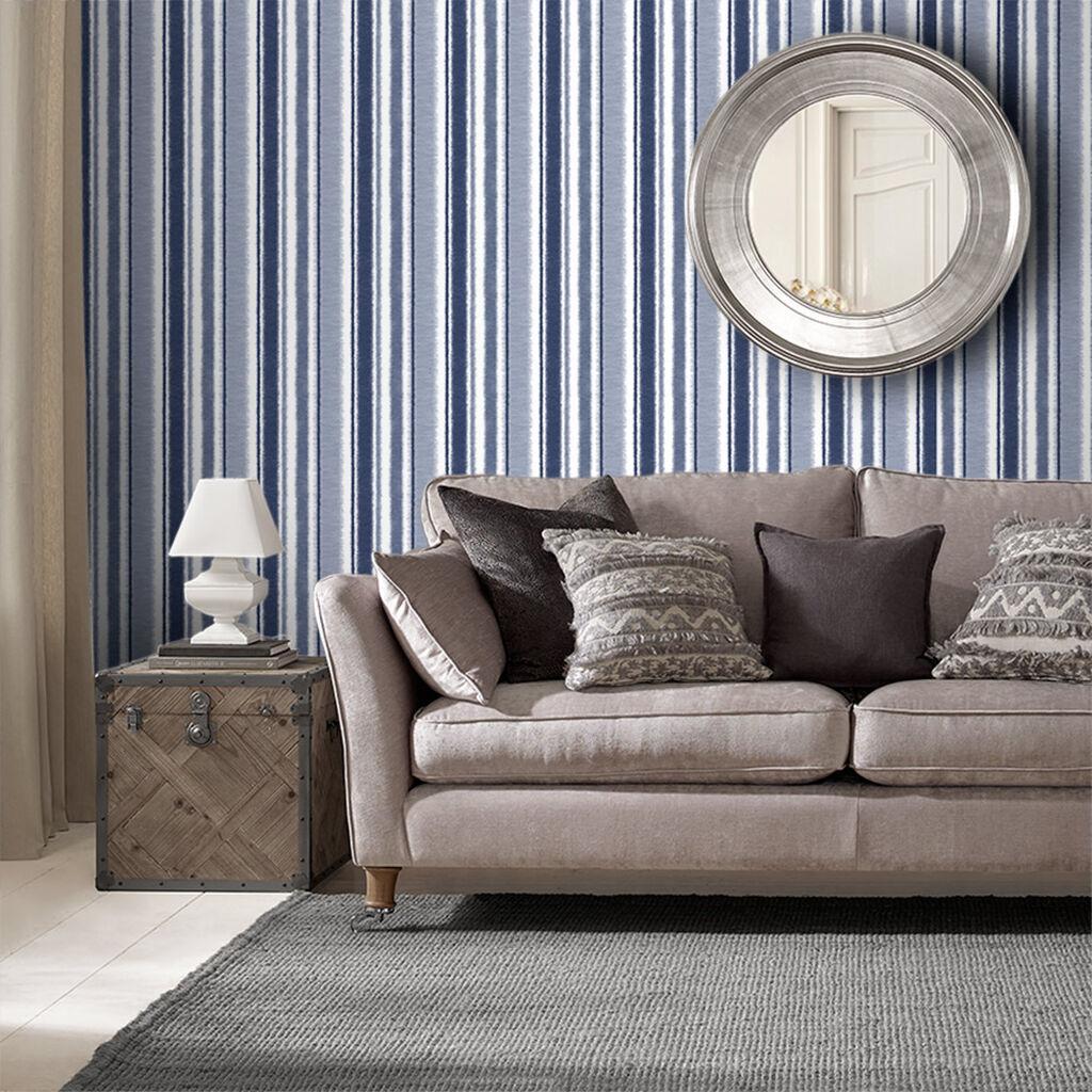 Tham khảo cách trang trí phòng khách ấn tượng bằng giấy dán tường - Ảnh 8.