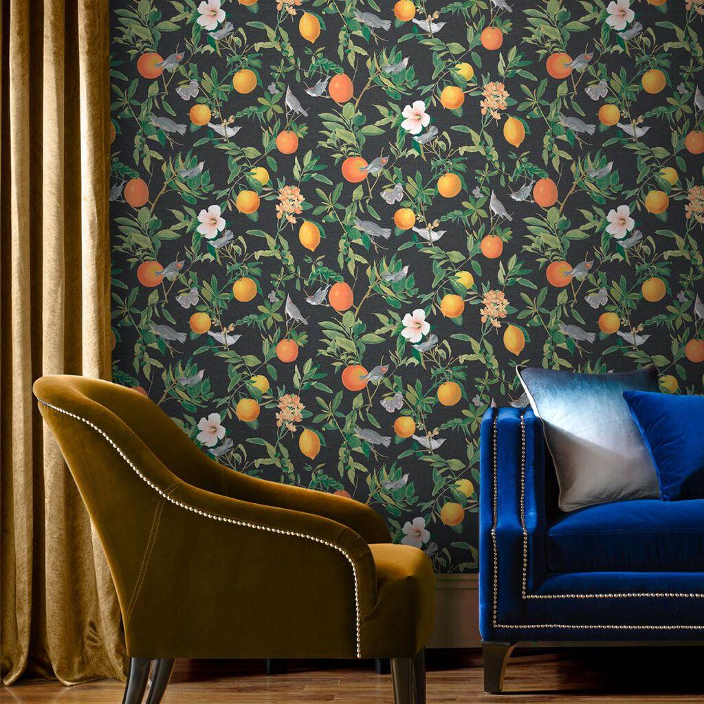 Tham khảo cách trang trí phòng khách ấn tượng bằng giấy dán tường - Ảnh 10.
