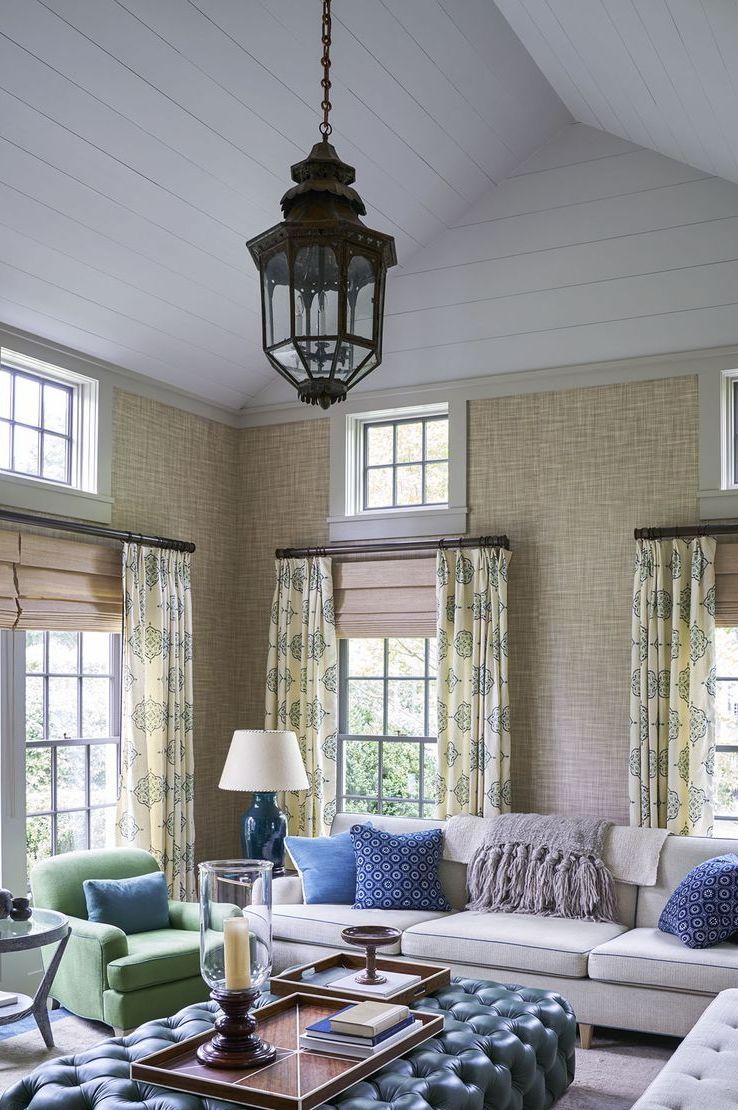 Tham khảo cách trang trí phòng khách ấn tượng bằng giấy dán tường - Ảnh 3.