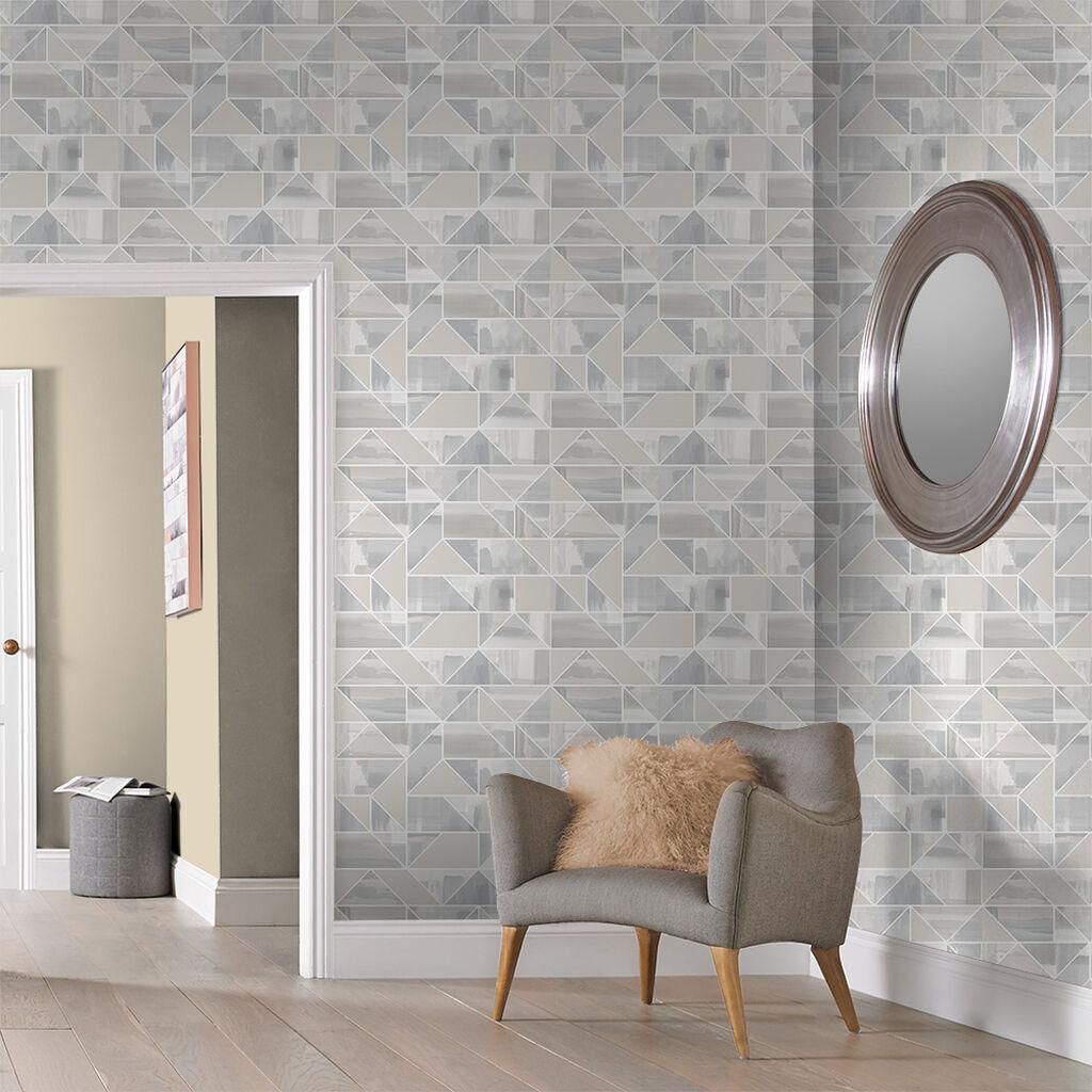 Tham khảo cách trang trí phòng khách ấn tượng bằng giấy dán tường - Ảnh 21.