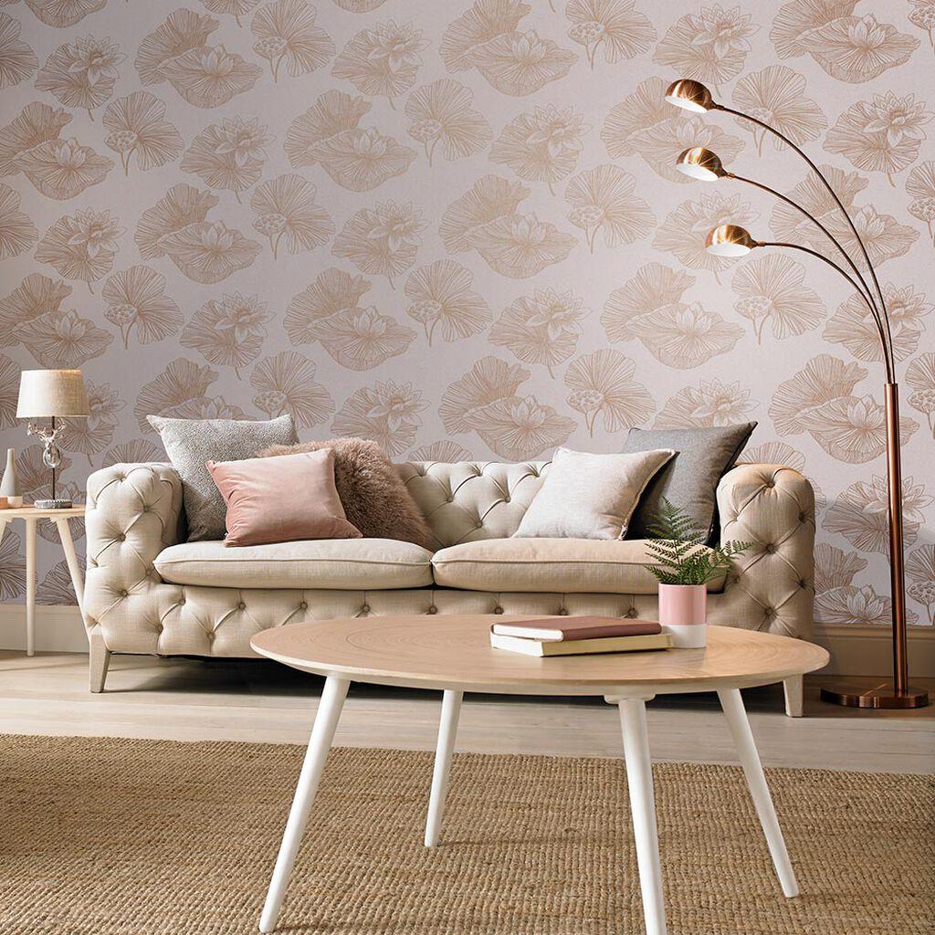 Tham khảo cách trang trí phòng khách ấn tượng bằng giấy dán tường - Ảnh 22.