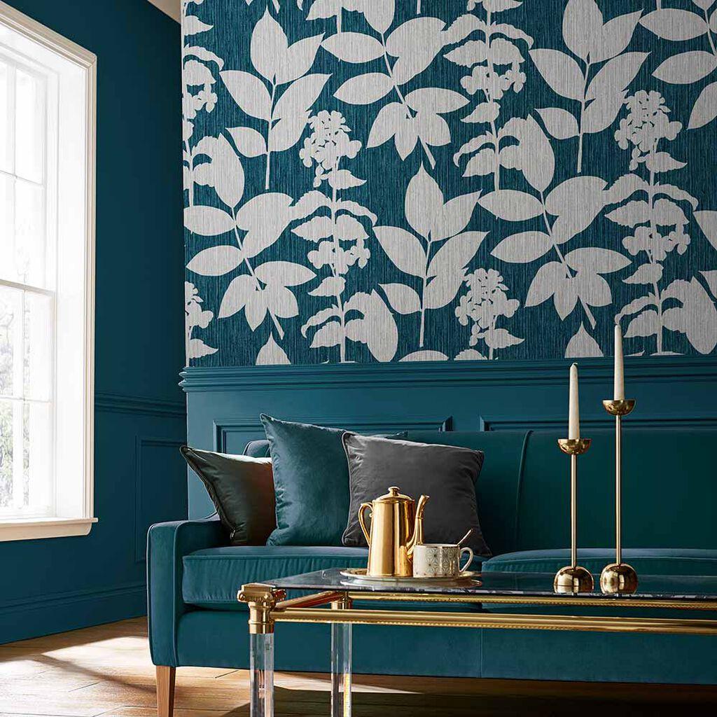 Tham khảo cách trang trí phòng khách ấn tượng bằng giấy dán tường - Ảnh 23.
