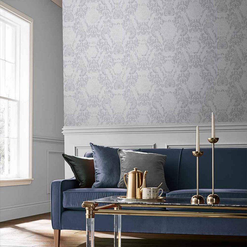 Tham khảo cách trang trí phòng khách ấn tượng bằng giấy dán tường - Ảnh 24.