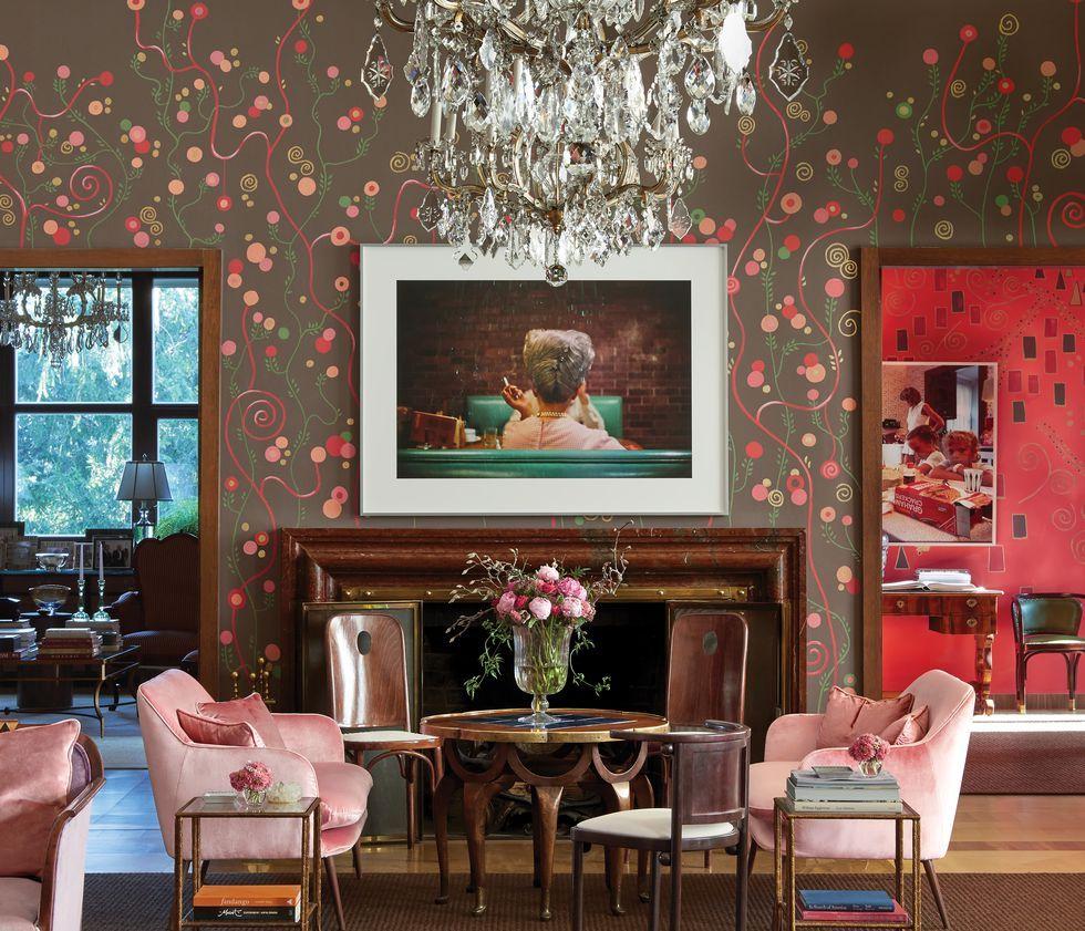 Tham khảo cách trang trí phòng khách ấn tượng bằng giấy dán tường - Ảnh 15.