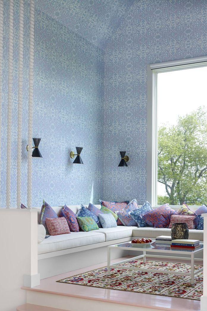 Tham khảo cách trang trí phòng khách ấn tượng bằng giấy dán tường - Ảnh 9.