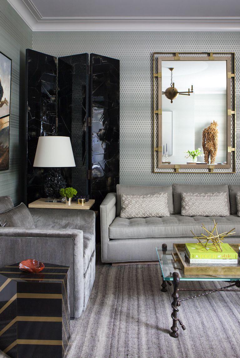 Tham khảo cách trang trí phòng khách ấn tượng bằng giấy dán tường - Ảnh 11.