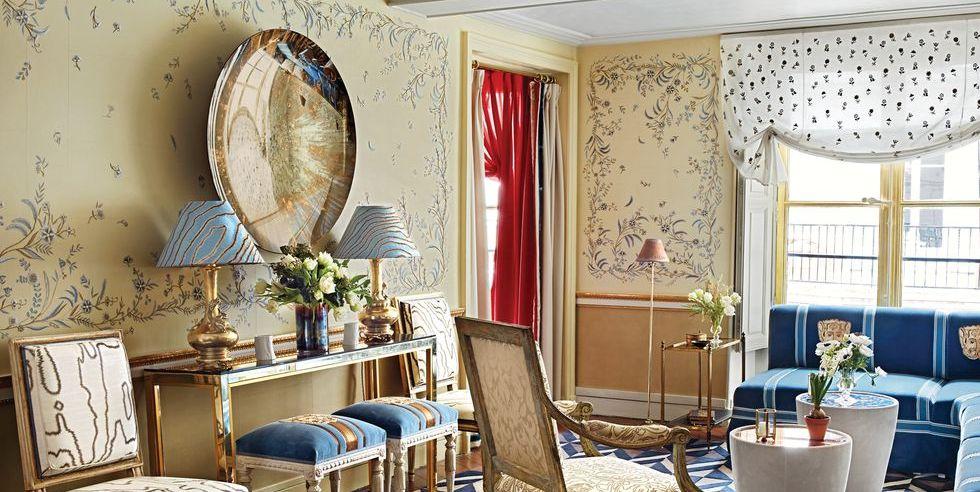 Tham khảo cách trang trí phòng khách ấn tượng bằng giấy dán tường - Ảnh 16.