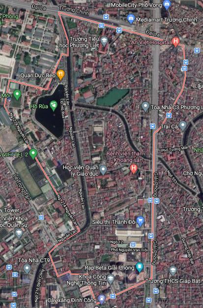 Bản đồ quy hoạch sử dụng đất phường Phương Liệt, Thanh Xuân, Hà Nội - Ảnh 1.