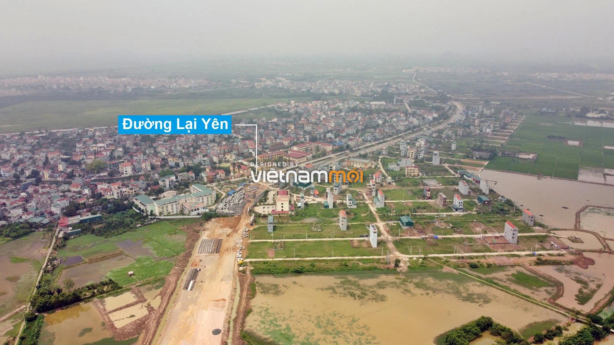 Toàn cảnh đường Lại Yên - Vân Canh đang mở theo quy hoạch ở Hà Nội - Ảnh 1.