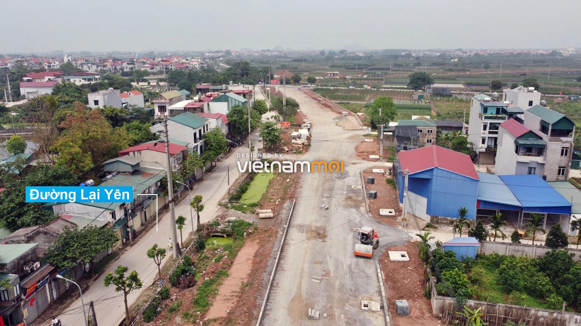 Toàn cảnh đường Lại Yên - Vân Canh đang mở theo quy hoạch ở Hà Nội - Ảnh 3.